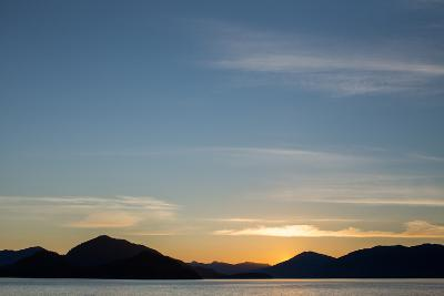 Sunset over the Mountains Within Alaska's Inside Passage-Erika Skogg-Photographic Print
