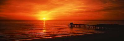 Sunset over the Ocean, Key Largo, Florida Keys, Florida, USA--Photographic Print