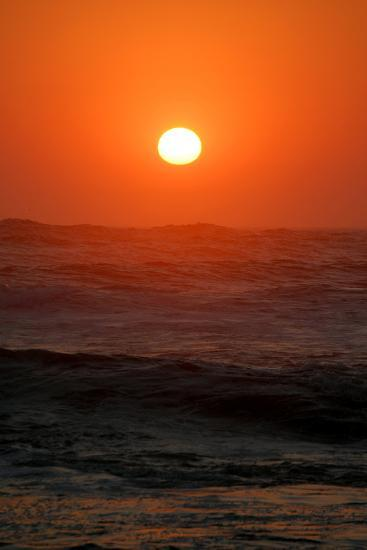 Sunset over the Ocean, Swakopmund Town, Namibia-Anne Keiser-Photographic Print