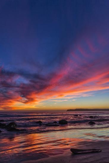Sunset over the Pacific from Coronado-Andrew Shoemaker-Photographic Print