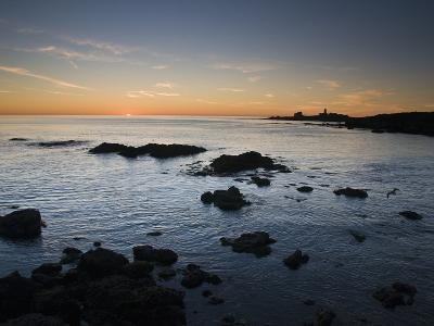 Sunset over the Pacific Ocean and Coast of Piedras Blancas, California-James Forte-Photographic Print