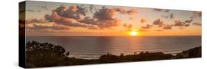 Sunset over the Pacific Ocean, Torrey Pines State Natural Reserve, San Diego, San Diego County