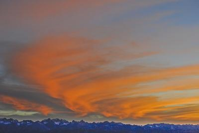 Sunset over the Palisade Region of the Eastern Sierra Nevada, Above the Owens Valley-Gordon Wiltsie-Photographic Print