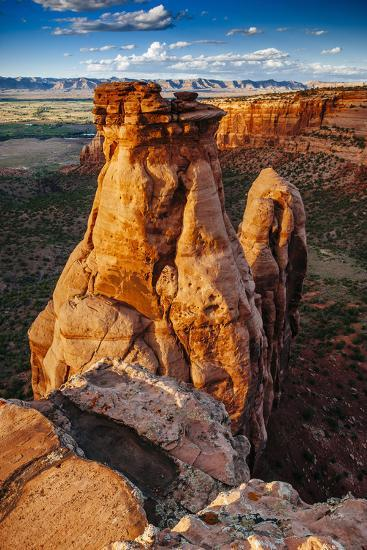 Sunset Over The Rock Formations In Colorado National Monument Near Grand Junction, Colorado-Jay Goodrich-Photographic Print