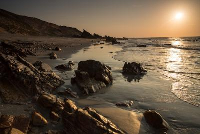 Sunset over the Rocks in Jericoacoara, Brazil-Alex Saberi-Photographic Print