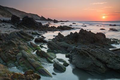 Sunset over the Rocks in Jericoacoara, Brazil-Alex Saberi-Photographic Print