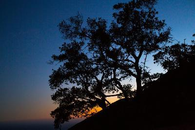 Sunset over the Santa Monica Mountains and the Pacific Ocean-Ben Horton-Photographic Print