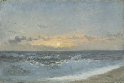 Sunset over the Sea, 1900 (Oil on Board)-William Pye-Giclee Print