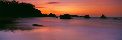 Sunset over the Sea, Goa, India--Photographic Print