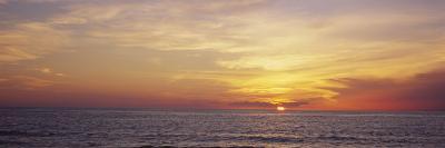 Sunset over the Sea, Gulf of Mexico, Venice, Sarasota County, Florida, USA--Photographic Print