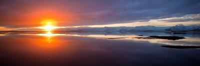 Sunset over the Sea, Hornafjordur, Iceland--Photographic Print