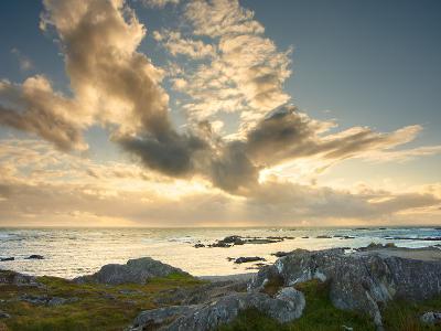 Sunset over the Sea, Isle of Colonsay, Inner Hebrides, Scotland, United Kingdom, Europe-Craig Easton-Photographic Print