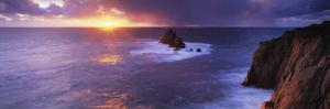 Sunset over the Sea, Land's End, Cornwall, England
