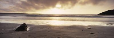 Sunset over the Sea, Whitesand Bay, Pembrokeshire, Wales--Photographic Print