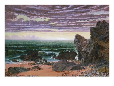 Sunset over the Sea-William Bell Scott-Giclee Print