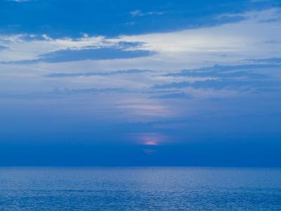 Sunset over the Tyrrhenian Sea, Forio, Ischia, Bay of Naples, Campania, Italy-Walter Bibikow-Photographic Print