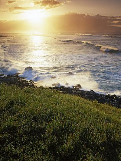 Sunset, Paia, Island of Maui, Hawaii, USA-Charles Gurche-Photographic Print