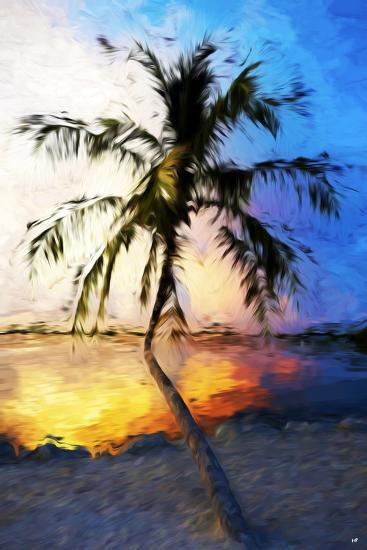 Sunset Palm V - In the Style of Oil Painting-Philippe Hugonnard-Giclee Print