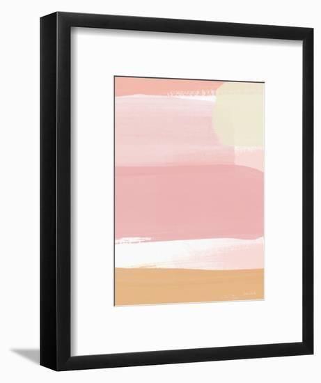 Sunset Pink Stripe I-Linda Woods-Framed Art Print