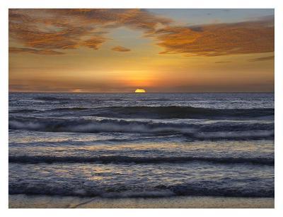 Sunset, Playa Langosta, Guanacaste, Costa Rica-Tim Fitzharris-Art Print