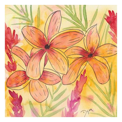Sunset Plumeria I-Beverly Dyer-Art Print