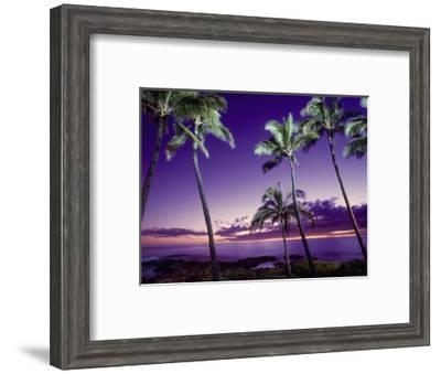 Sunset, Poipu Beach, Kauai, HI-Elfi Kluck-Framed Photographic Print