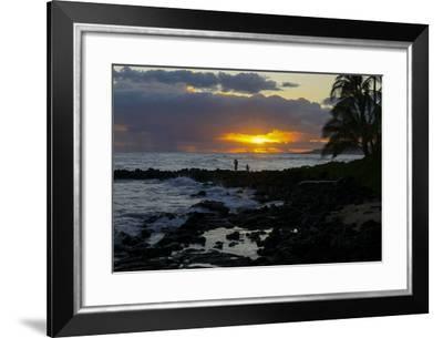 Sunset, Poipu, Kauai, Hawaii-Douglas Peebles-Framed Photographic Print