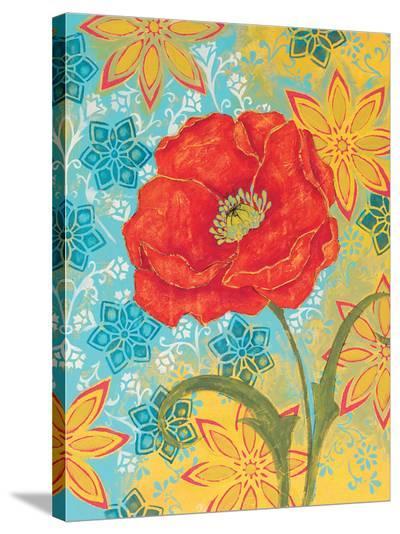 Sunset Poppy-Kate Birch-Stretched Canvas Print