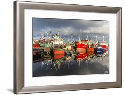 Sunset Reflected on the Commercial Fishing Fleet at Killybegs-Michael Nolan-Framed Photographic Print