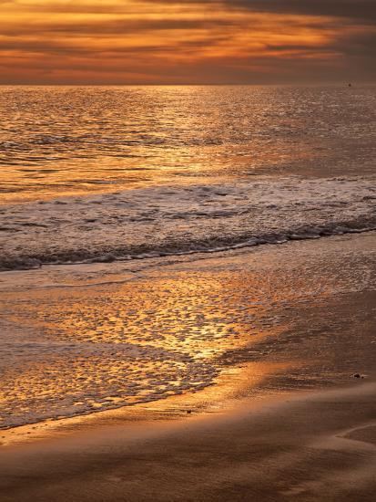 Sunset Reflection, Cape May, New Jersey, USA-Jay O'brien-Photographic Print