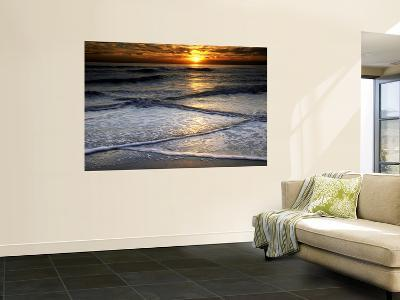 Sunset Reflection on Beach, Cape May, New Jersey, USA-Jay O'brien-Wall Mural