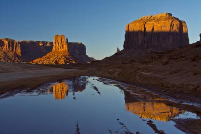 Sunset, Reflections, Buttes, Monument Valley, Arizona-Michel Hersen-Photographic Print
