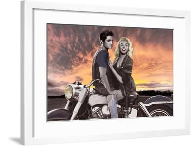 Sunset Ride-Joshua Nelson-Framed Art Print