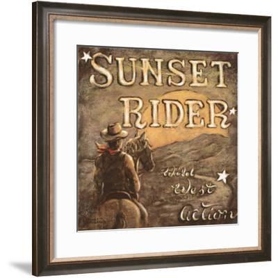Sunset Rider-Janet Kruskamp-Framed Art Print