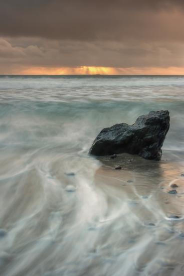 Sunset Rock Seascape-Vincent James-Photographic Print