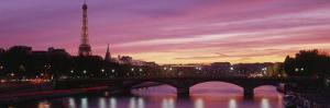 Sunset, Romantic City, Eiffel Tower, Paris, France