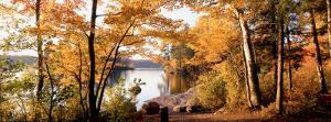 Sunset, Sacandaga Lake, Adirondack Mountains, New York State, USA