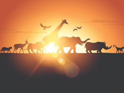 Sunset Safari-Solarseven-Photographic Print