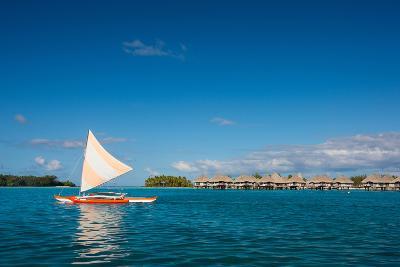 Sunset Sailing at Beautiful Bora Bora Lagoon-BlueOrange Studio-Photographic Print
