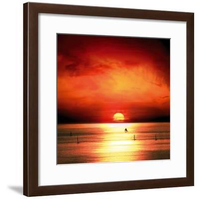 Sunset Sea-Jurek Nems-Framed Premium Giclee Print