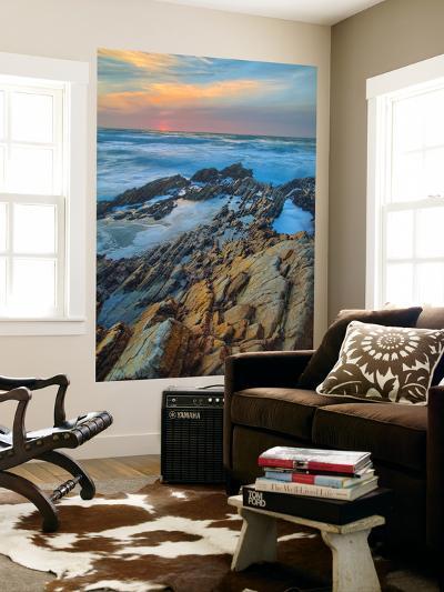 Sunset Seascape at Montaña de Oro-Vincent James-Wall Mural