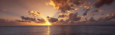 Sunset, Seven Mile Beach, Cayman Islands, Caribbean Sea--Photographic Print