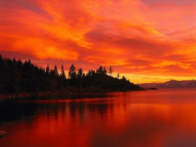 Sunset, Sierra Mountains, Lake Tahoe, CA-Kyle Krause-Photographic Print