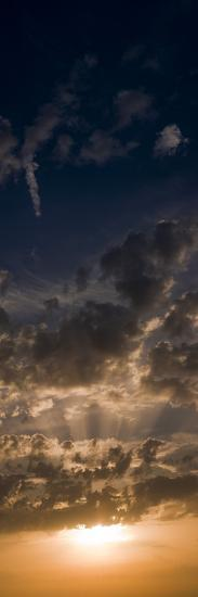 Sunset Sky, Large Format Vertical Panoramic, West Sussex, England, United Kingdom, Europe-Giles Bracher-Photographic Print