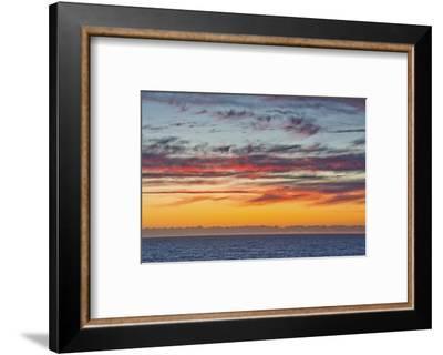 Sunset sky, ocean, Heceta Beach, Oregon Coast, Oregon, USA.-Michel Hersen-Framed Photographic Print