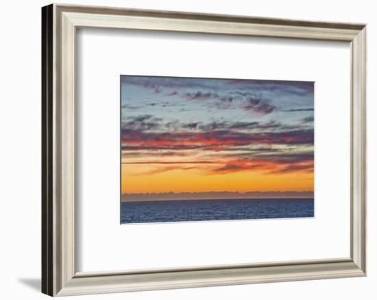 Sunset sky, ocean, Heceta Beach, Oregon Coast, Oregon, USA.-Michel Hersen-Framed Photographic Print