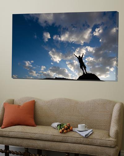 Sunset Sky Silhouette Man-Kevin Lange-Loft Art