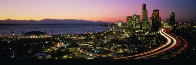 Sunset Skyline Seattle Wa USA--Photographic Print
