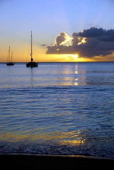 Sunset, St. Kitts and Nevis, Leeward Islands, West Indies, Caribbean, Central America-Robert Harding-Photographic Print