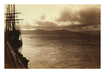 Sunset Study, San Francisco Bay-George Fiske-Art Print